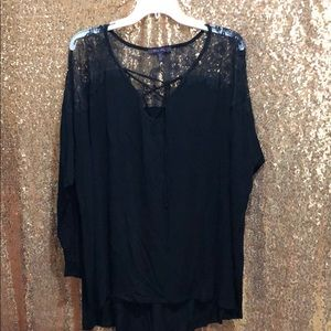 Tops - Plus Lacy Top